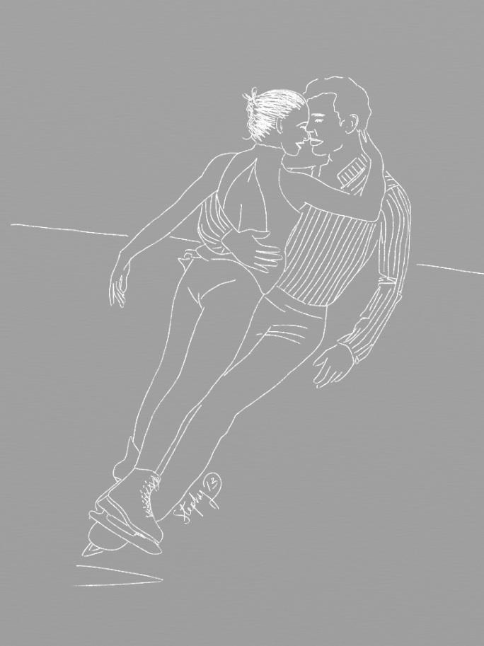 Pareja en patines