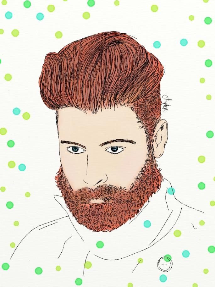 Señor con barba - Senyor amb barba.