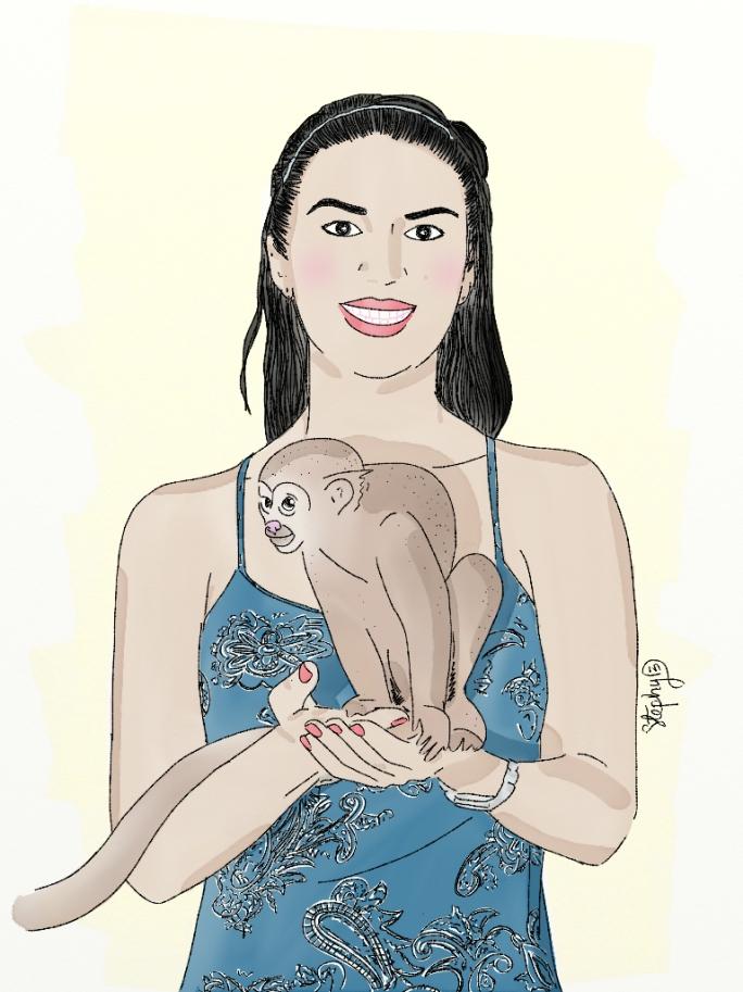 Adriana y el mico