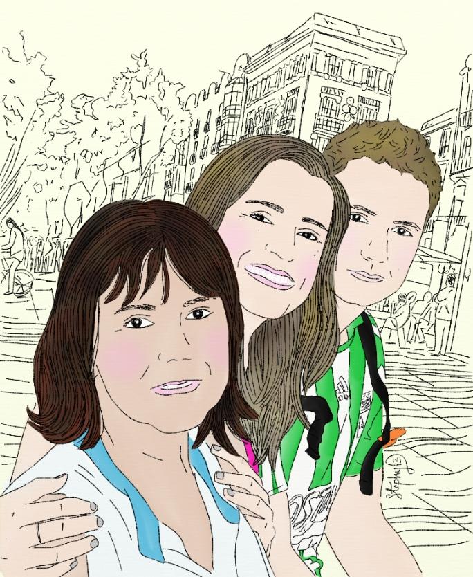 Luz Alba, Stephanie y Sebastien